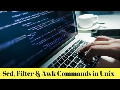Sed, Filter and Awk commands in Unix Text Processing