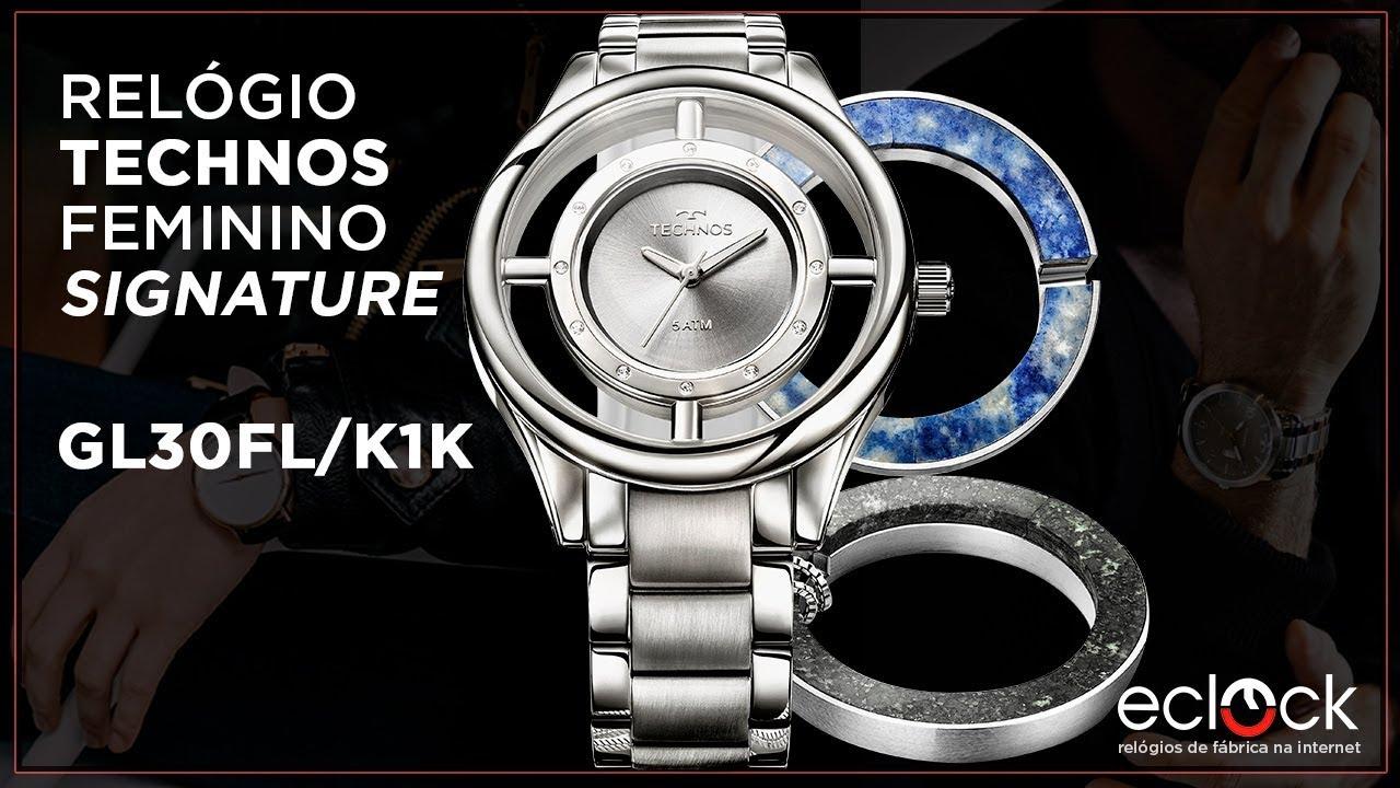 9ed4655051b Relógio Technos Feminino Signature GL30FL K1K - Eclock - YouTube
