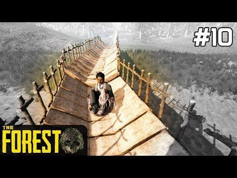 The Forest PL Gameplay [#10] Wielka ZJEŻDŻALNIA do WODY /z Skie
