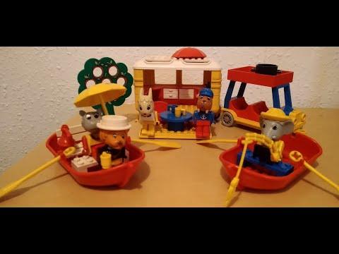Heti videó: 08# Vintage Lego - Fabuland 3622 Rowboat, 3680 Camping Caravan