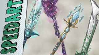 SpeedPaint - Concept Art   Weapons