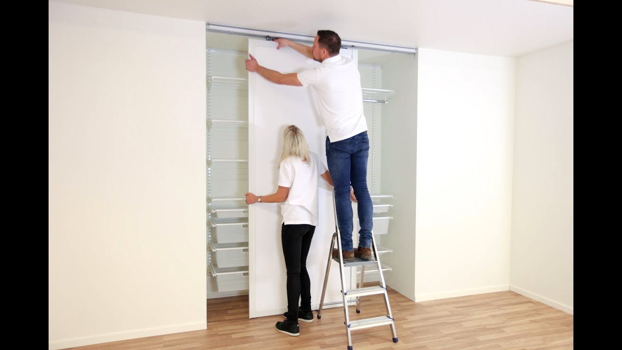Delightful Elfa Assembly Instruction: Top Hung Sliding Doors
