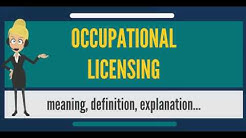 What is OCCUPATIONAL LICENSING? What does OCCUPATIONAL LICENSING mean?