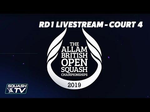 Squash: Allam British Open - Court 4 Livestream - Rd 1