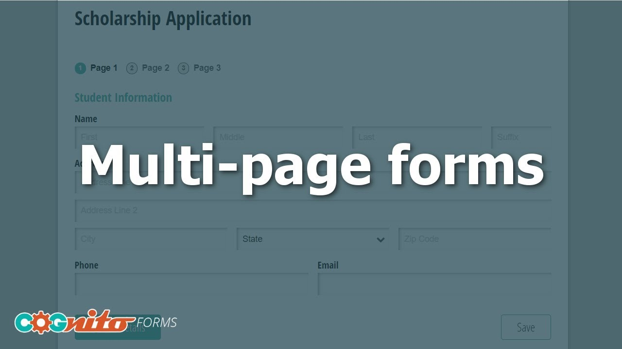 Creating Multi-Page Forms - Cognito Forms