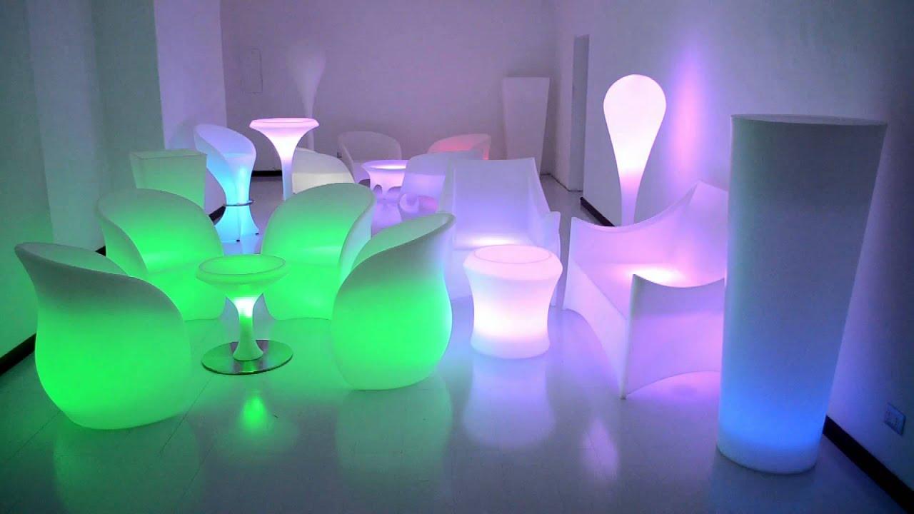 Sedie, tavoli, vasi luminosi - da AXE Comodità e Design - YouTube