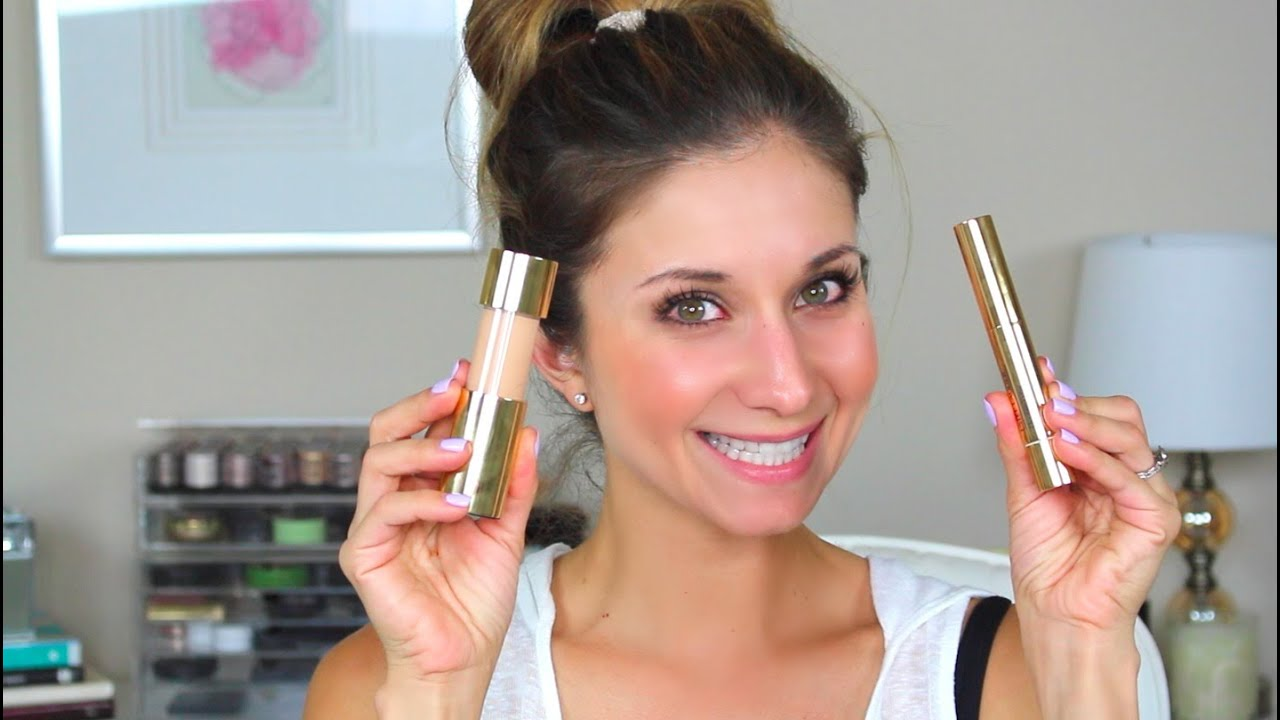 First Impression Review And Demo Estee Lauder Cushion Stick Foundation Highligher