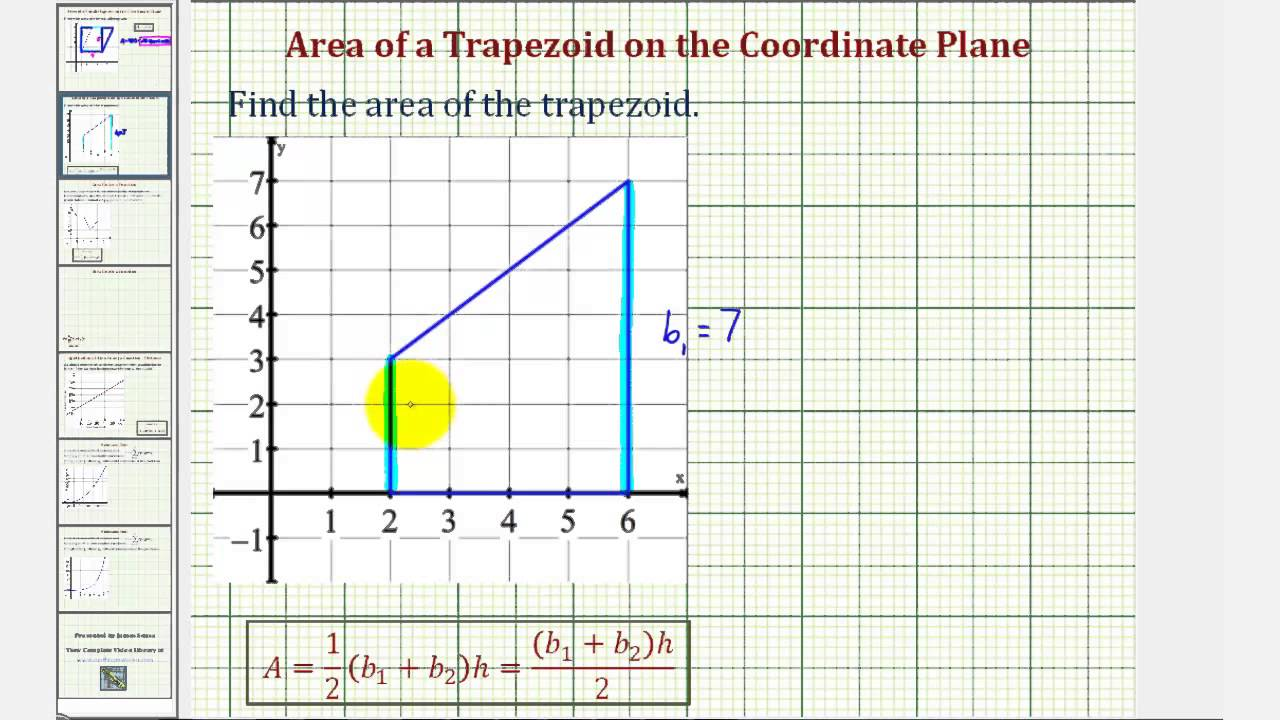 Ex area of a trapezoid on the coordinate plane youtube ccuart Choice Image