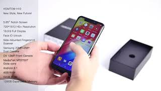Unboxing For HOMTOM H10 Notch Smartphone