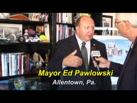 Ed Pawlowski Mayor of Allentown speaks about Missing Children  at CP4 Kids event.