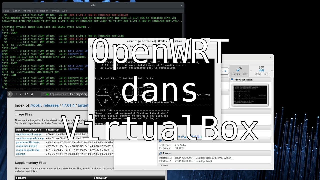 Installation d'OpenWRT dans VirtualBox - Another Home Page Vlog épisode 2