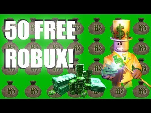 HOW YOU CAN GET 50 ROBUX ABSOLUTELY FREE ON ROBLOX ...