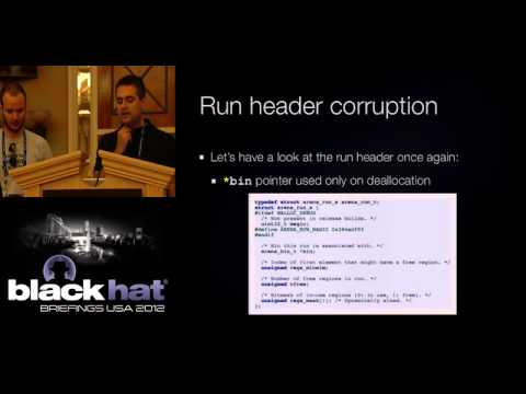 Black Hat USA 2012 - Exploiting The Jemalloc Memory Allocator: Owning Firefox