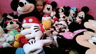 Огромная Коллекция Минни и Микки Маусов Обзор Мягкие Игрушки и Заплаканная Катя