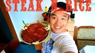 Eating Show :: Steak and Rice thumbnail