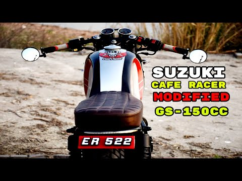Cafe Racer Suzuki GS 150cc Modified Bike SRK Customs Islamabad / Rawalpindi Pakwheel (YamahaHonda)