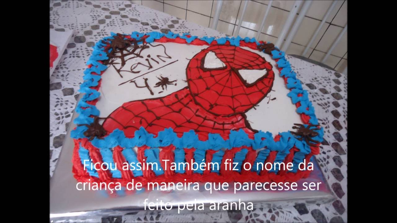 Bolo homem aranha decorado com chantilly youtube bolo homem aranha decorado com chantilly altavistaventures Choice Image