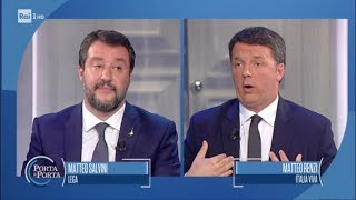 La sfida in tv tra i due Matteo - Porta a porta 15/10/2019