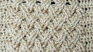 Repeat youtube video Crochet : Punto Entrecruzado Plano