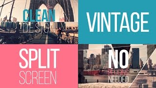 Vintage Split Screen (After Effects Template)