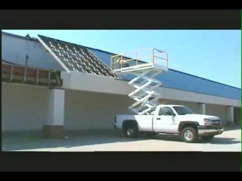 Truck Mounted Scissor Lift Youtube
