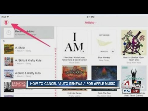 "How to cancel ""Auto Renewal"" for Apple Music"