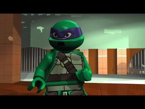 игра мультик Лего черепашки мутанты ниндзя спасают эйприл # 1 лучшие игры HD