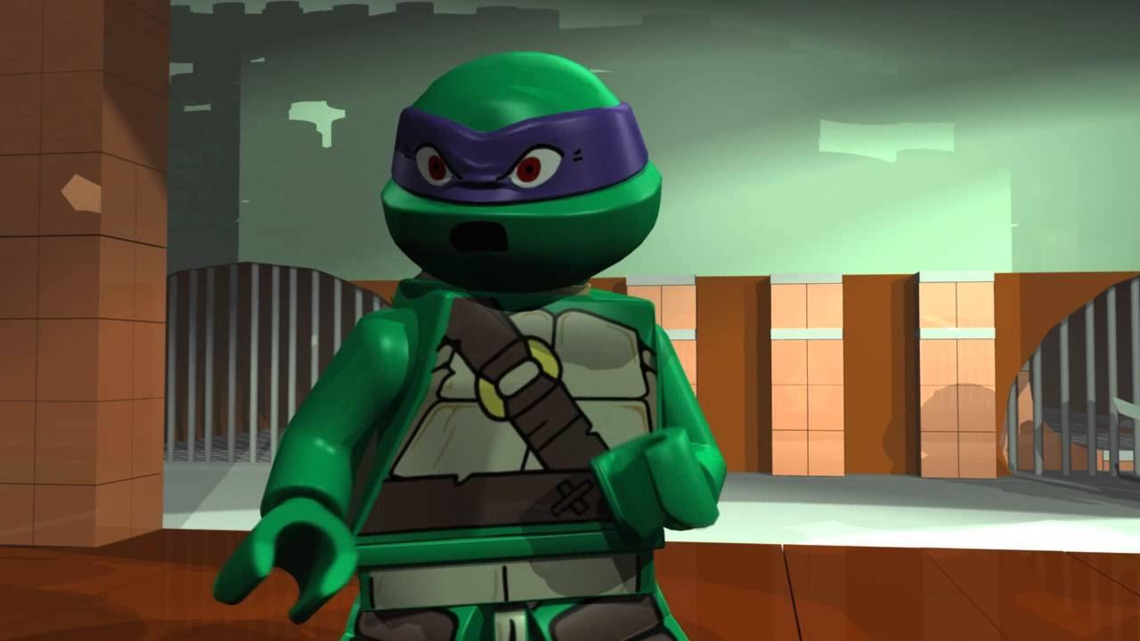 игра мультик Лего черепашки мутанты ниндзя спасают эйприл ...