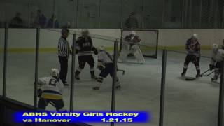 Acton Boxborough Girls Ice Hockey vs Hanover 1/21/15