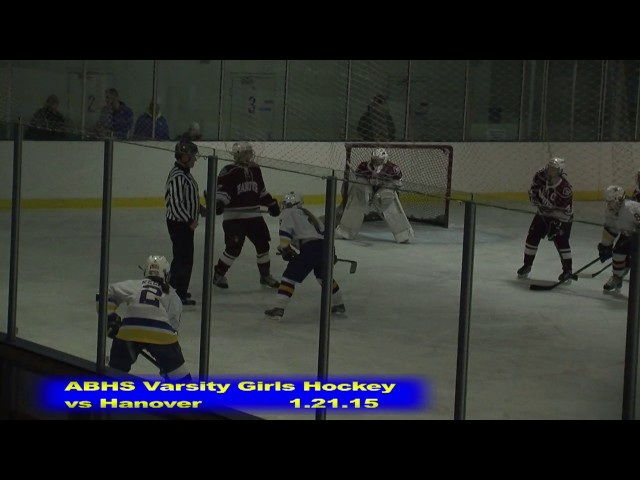 Acton Boxborough Girls Ice Hockey vs Hanover 1/21/15