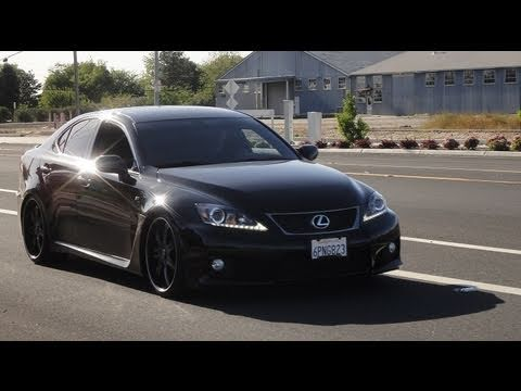 2011 Lexus ISF on 20s Lowered on KW V3 Adjustable Coilovers install vid  YouTube