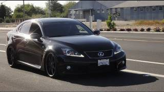 2011 Lexus ISF on 20's Lowered on KW V3 Adjustable Coilovers (install vid)