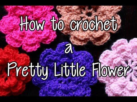 How to crochet a Pretty Little Flower - Part 1