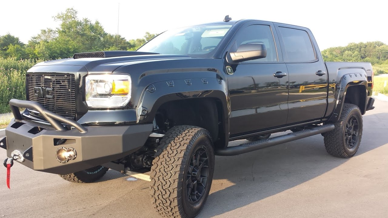 Sold 2014 Black Ops By Tuscany Gmc Sierra Sle Crew Cab 4x4