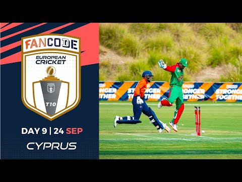 🔴 FanCode European Cricket T10 Cyprus,  Limassol | Day 9 T10 Live Cricket