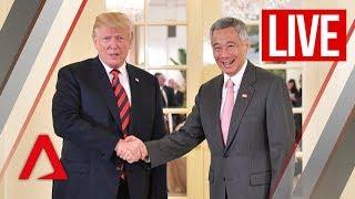 Trump-Kim summit: US President Trump meets Singapore PM Lee at the Istana