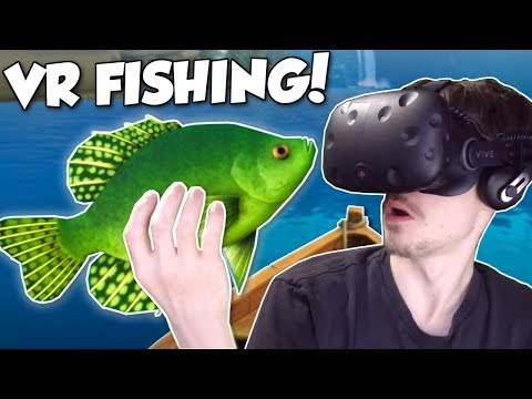 FISHING FOR HUGE FISH! - Catch & Release VR Gameplay - VR Fishing Simulator Game |