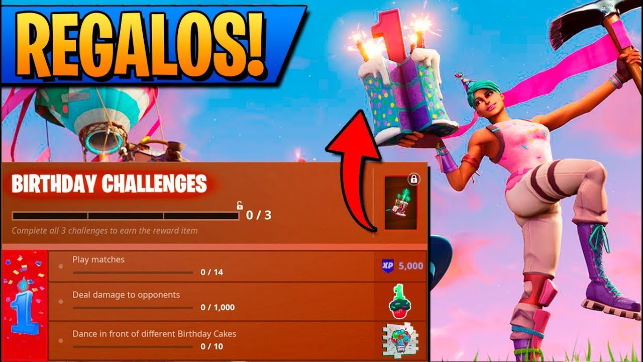 REGALOS del CUMPLEA u00d1OS de FORTNITE!! YouTube