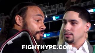 (WOW) KEITH THURMAN AND DANNY GARCIA COME FACE TO FACE AND TALK MAD TRASH DURING INTENSE STAREDOWN
