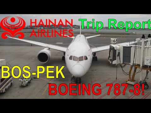 Trip Report on Hainan Airlines flight HU482 From Boston to Beijing