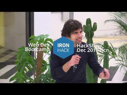 2016 Ironhack Coding Bootcamp Graduation - INTRO - HackShow 2016 Barcelona