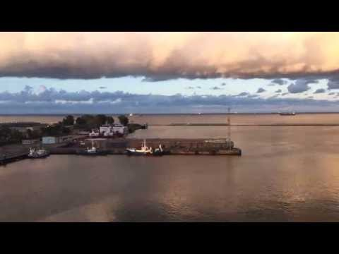Courtyard Marriott Gdynia Waterfront - Seaview and Sunset - Timelapse - June 2016
