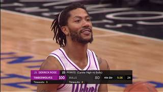 """Wolves' Derrick Rose Gets """"MVP"""" Chants From Bulls Fans In Return to Chicago"""