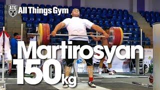 Simon Martirosyan 150kg Snatch Almaty 2014 World Championships Training Hall