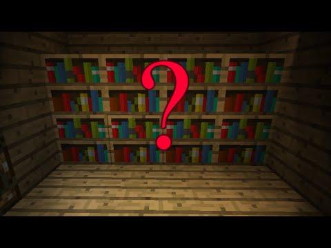 Minecraft 18 Working Bookshelf Secret Vault