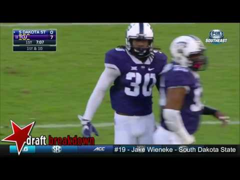 Jake Wieneke (South Dakota State WR) vs TCU 2016
