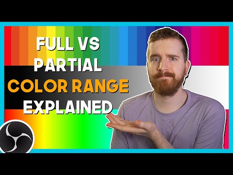 OBS STUDIO: Full vs Partial Color Ranges EXPLAINED (Limited vs Legal) Streaming RGB Range StreamLabs