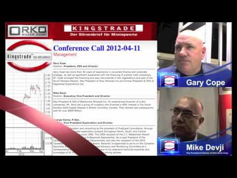 2012-04-11 Orko Silver Corp. Conference Call