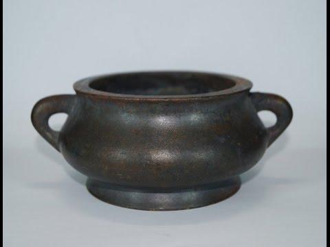 Ming to Qing dynasty Chinese bronze censer 明清代青铜香炉