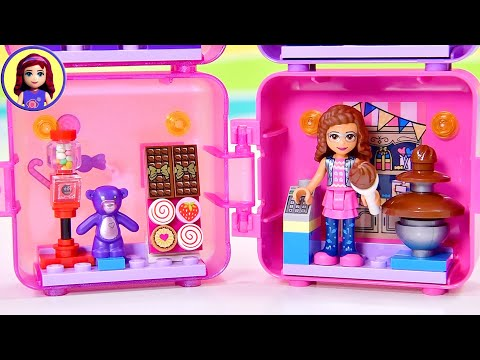 Olivia Has A Tiny Sweet Shop (and A New Teddy)! Lego Friends Shopping Cubes Build Series 2